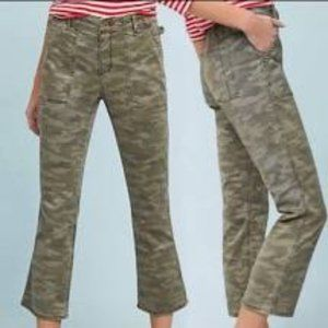 Anthropologie Camo High Waisted Ankle Jeans NWOT